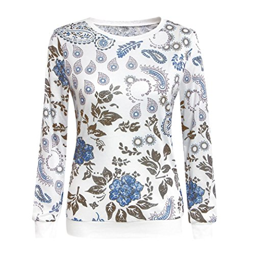 [XUANOU Womens Simple and Elegant Long Sleeve Cotton Casual Sweatshirts Blouse Shirt (Medium)] (Toddler Natural Leopard Costumes)