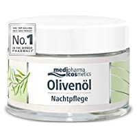 Medipharma Cosmetics Night Care Cream - Infused with Cold Pressed Olive Oil and...