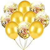 Inkach- Confetti Balloons, 10pcs 12'' Latex Party Balloons for Baby Shower Birthday Decor (A)