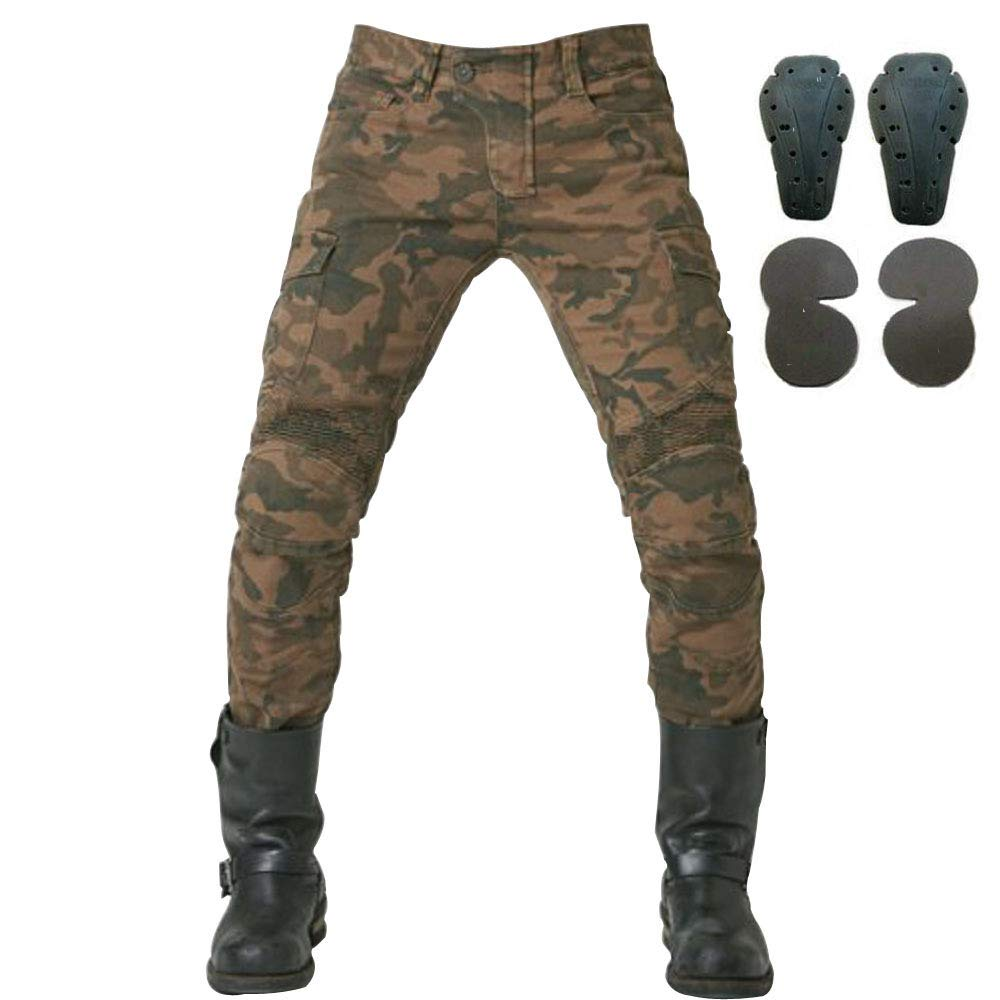 Toach Denim Jeans for Men Motorcycle Riding Pants with CE Detachable Protective Pad Black//Army Green//Blue//Camouflage