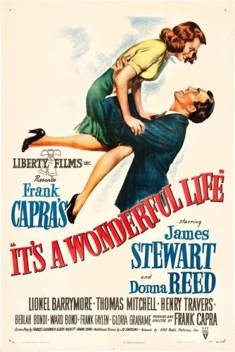 (11x17) It's A Wonderful Life - James Stewart Donna Reed Movie ()