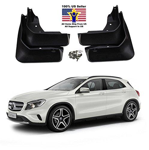 MPH Production Mercedes Benz GLA 200/220/250 (2015-2016) Mud Flaps Guards Splash Flares 4 Piece Front & - Flaps Mud Mercedes