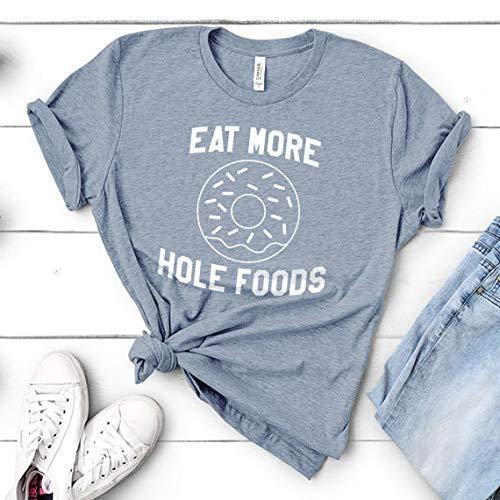 646b4b97 Amazon.com: Eat More Hole Foods | Funny Workout Gym Yoga Cardio Donut Tee -  Unisex Mens Womens T-Shirt Shirt Tee: Handmade
