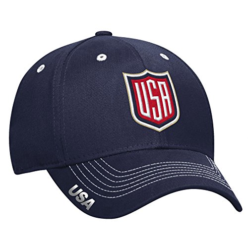USA 2016 World Cup Of Hockey Primary Logo Structured Flex Cap - Size Large / X-Large