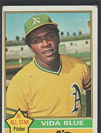 1976 Topps Vida Blue As Baseball Card 140 At Amazons Sports