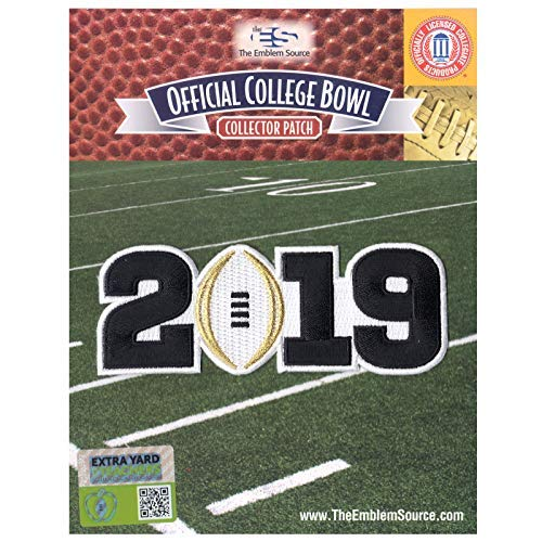 2019 College National Championship Game Jersey Patch White Alabama Clemson