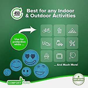 Comfort Road - Mosquito Repellent Patch 60 Count + 12 Patches Bonus Keeps Insects and Bugs Far Away, Simply Apply to Skin and Clothes , Adult, Kid-Friendly , Convenient For Travel, Outdoor and Camping
