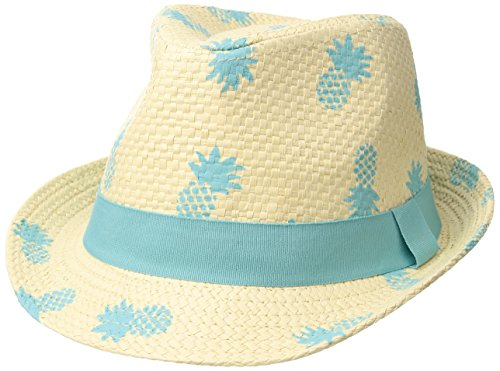 Flap Happy Kids' Toddler UPF 50+ Fedora Club Hat, Pineapple, Large (The Club Pineapple)