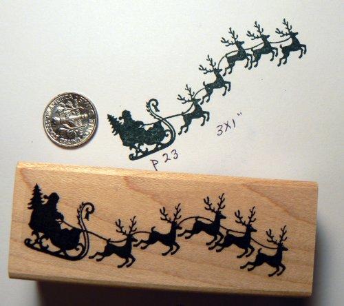 Santa Claus rubber stamp P23