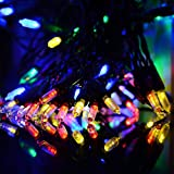 Vmanoo M5 Battery Operated String Lights 100 LED Clear Mini Fairy Christmas Lighting Decor Timer For Outdoor, Indoor, Garden, Patio, Lawn, Holiday, Bedroom Wedding Xmas Decorations (Multi Color)