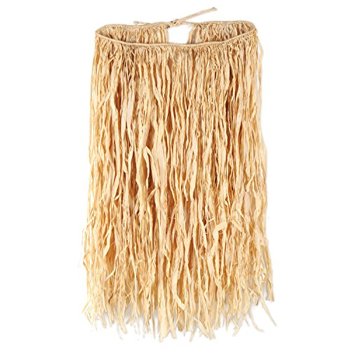 Beistle 38-Inch by 30-Inch Raffia Hula Skirt for Halloween Party, X-Large (Raffia Hula Skirt)