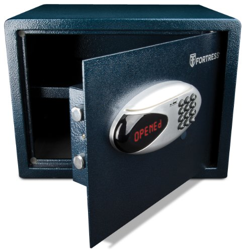 Fortress Alarming Home Safe with Swiper Lock, 1.1-Cubic Feet