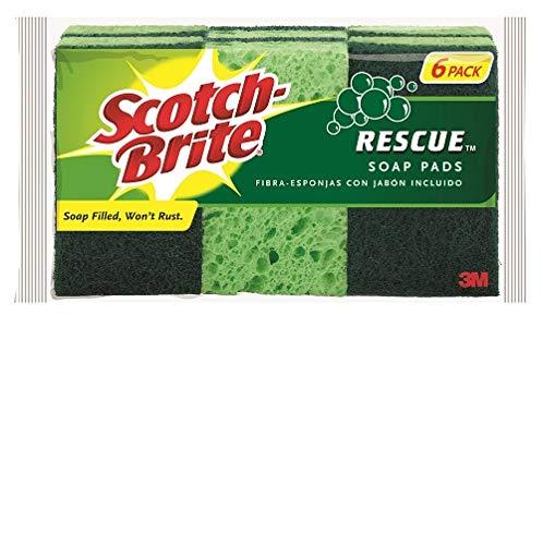 Scotch-Brite Rescue Soap Filled Heavy Duty Scrub Sponges - 6 Count ()