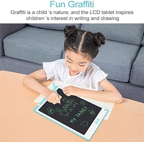 Supports One-Click Clear /& Local Erase Color : Blue Goodao 12-inch LCD Writing Tablet Black