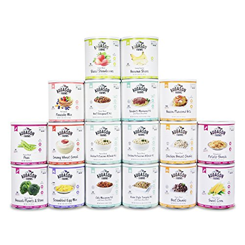 Augason Farms Simply Meal Pack Emergency Food Storage 18 Can Kit