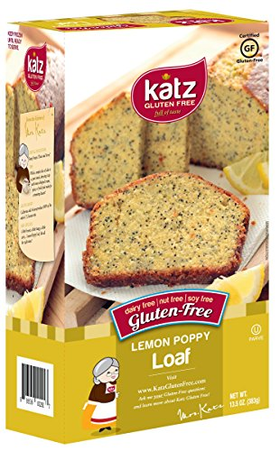 Katz Gluten Free Lemon Poppy Loaf, 13.5 Ounce, Certified Gluten Free - Kosher - Dairy, Soy, Nut free - (Pack of 1) (Soy Milk Costume)