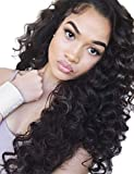 Cici Collection 360 Lace Frontal Wigs Pre Plucked 180% Density Lace Front Human Hair Wigs 360 Lace Wig Loose Curly Lace Fronts Wigs Human Hair with Baby Hair(22inch,Loose Wave)