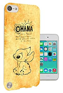 825 - Ohana Family Meaning Quote Design Apple ipod Touch 5 Fashion Trend CASE Gel Rubber Silicone All Edges Protection Case Cover