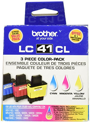 Brother Mfc 5440cn Printer - Brother LC41 Color 3 Pack 1 each Cyan, Magenta, Yellow