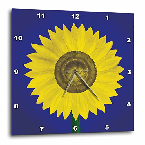 Giant Sunflower Blue and Yellow wall clocks - yellow wall clock
