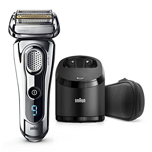 Braun Series 9 9296cc Men's Electric Foil Shaver, Wet and Dry with Clean and Renew Charge Station, Pop Up Trimmer, Rechargeable and Cordless Razor and Travel Case - Chrome by Braun