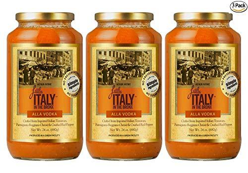 Little Italy Bronx Alla Vodka Sauce 24 oz (3 Pack)