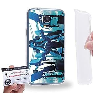 Case88 [Samsung Galaxy S5 Mini] Gel TPU Carcasa/Funda & Tarjeta de garantía - Vocaloid Miki Hatsune Miku 1173