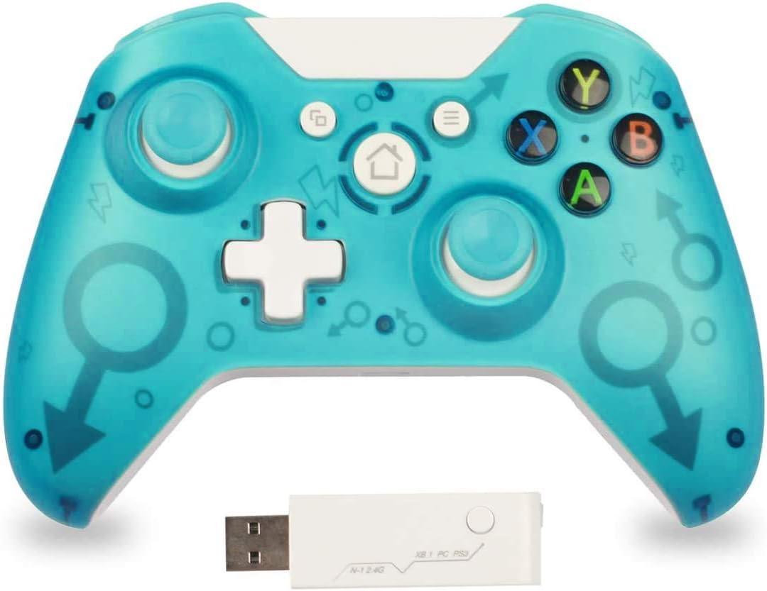 Mando para PC Mando para Xbox One Mando Inalámbrico Compatible con Xbox One/Xbox Series X/PS3/PC 2.4G Wireless Gamepad Joystick Inalámbrico(Verde)