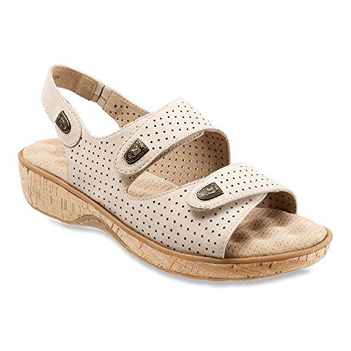 Sandalo Con Zeppa Donna Sandwalk Sandalo Con Zeppa In Pelle