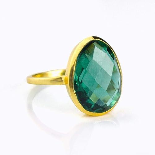 c64c889aa Amazon.com  Teardrop Green Tourmaline ring