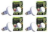Exo Terra Sun-Glo Basking Spot Lamp, 100-Watt/120-Volt (4 Pack)