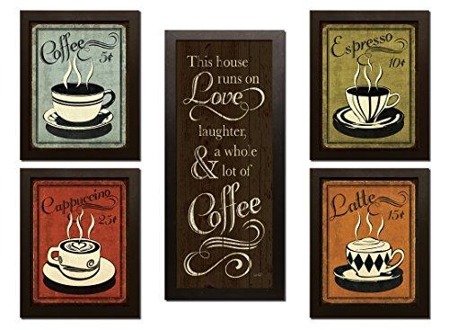 Retro Coffee, Espresso, Cappuccino, Latte and 'This House