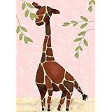 Oopsy Daisy Gillespie The Giraffe Pink by Meghann O'Hara Canvas Wall Art, 10 by 14-Inch