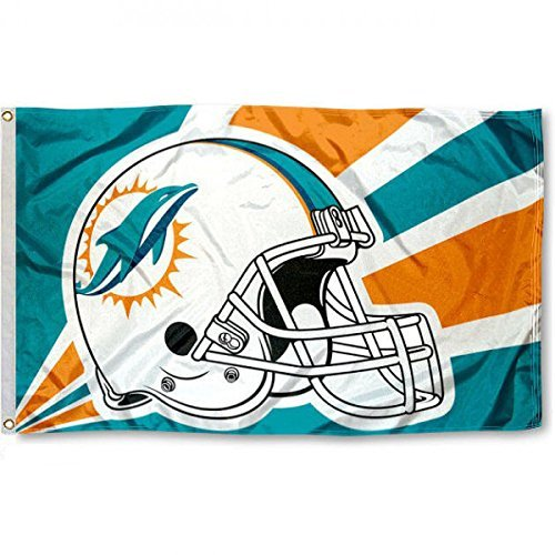 (New Miami Dolphins Flag, Dolphins Flag, Five Star Flags, Flag for Indoor or Outdoor Use, 100% Polyester, 3 x 5 Feet.)