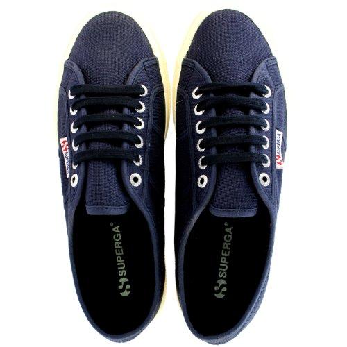 Heren Superga 2750 Cotu Klassieke Plimsoll Lace-up Canvas Casual Sneakers Marine