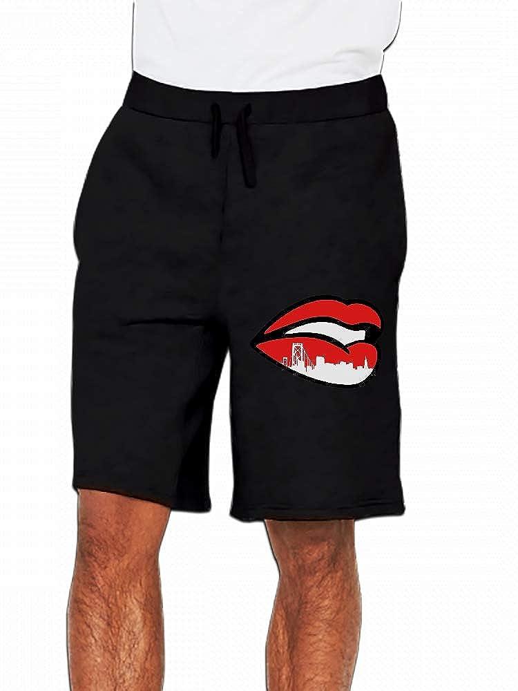Sf City Lips Mens Casual Shorts Pants