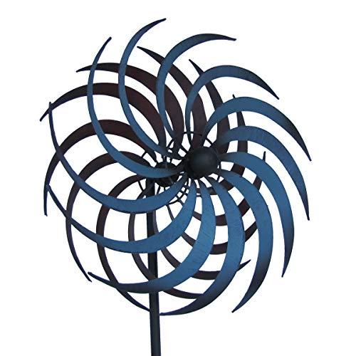 TG,LLC Double Pinwheel Kinetic Lawn Garden Wind Spinner Metal Outdoor Yard - Wind Double Spinner