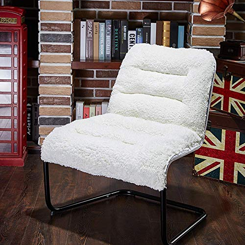 Zenree Living Room Chair Lounge Accent Upholstered Chairs with Sherpa Seat for Bedroom Dorm Teen's Den Indoor (Small Chair Bedroom)
