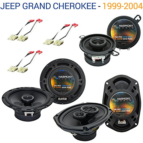 Fits Jeep Grand Cherokee 1999-2004 OEM Speaker Replacement Harmony Upgrade Package