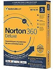 Norton 360 Deluxe 50GB PC Cloud Storage AR 1 User for 5 Device Antivirus, Multicolor, 21405129