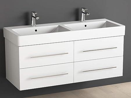 Aqua Mobili Da Bagno.Aqua Bagno Mobile Bagno 120 Cm Con Doppio Lavabo Bagno In Ceramica