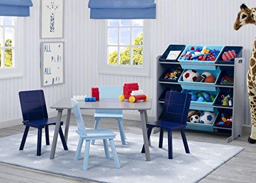 51XKo7I1jEL - Delta Children Kids Toy Storage Organizer with 12 Plastic Bins, Grey/Blue, Grey/Blue