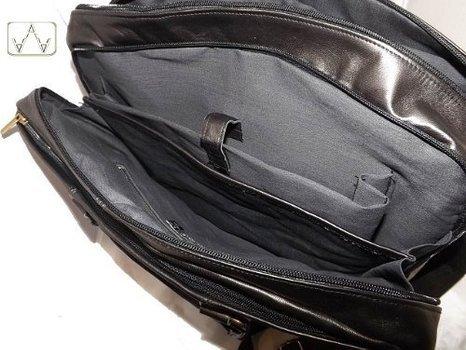 Borsone a mano aereo in pelle uomo -Vero Artigianato italiano -L43xH36xP18 cm MOD :011D black