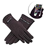 Pershoo Christmas Touch Screen Gloves Smartphone Gloves Winter Windproof Gloves,Retro Elegant Lace Women's Sport Touchscreen Gloves for iPhone, iPad, Blackberry, Samsung, HTC Tablet Trekking Cycling