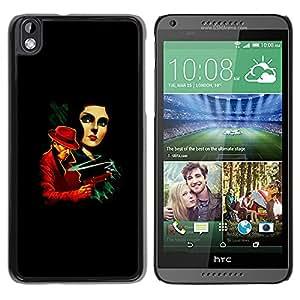 HTC DESIRE 816 - Metal de aluminio y de plástico duro Caja del teléfono - Negro - La Vintage Crime Poster