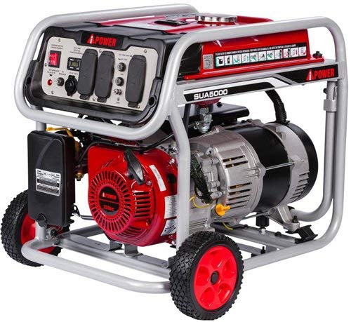 JEGS 86065 Portable Generator 5000 Starting Watts 4250 Running Watts 9 Hr. Run Time