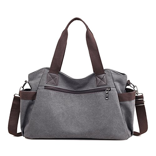 Canvas Casual capacity Bag Shoulder Mom Large Comfortable Fashion Bag Handbag Handbag Student Gray Backpack Messenger Travel Ladies FLHT 5tPW80wq4n