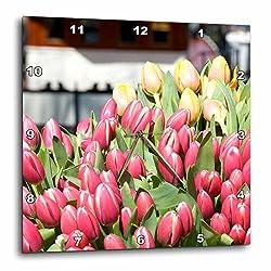 3dRose dpp_82333_3 Netherlands, Amsterdam, Market TuLIp Flowers EU20 LEN0168 LIsa S. Engelbrecht Wall Clock, 15 by 15-Inch