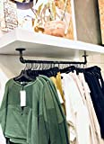 DIY CARTEL Industrial Pipe Towel Rack Hardware Only - Perfect for: Curtain Rod, Hanging Plants, Storage Bar, Coat Rack & Industrial Furniture/Farmhouse Decor