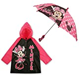 #7: Disney Little Girls Slicker and Umbrella Rainwear Set